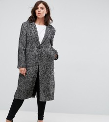 Elvi Tweed Overcoat - Grey