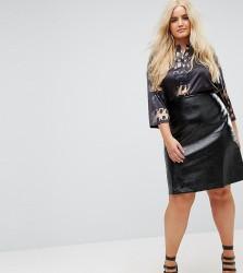 Elvi Vinyl Mini Skirt - Black