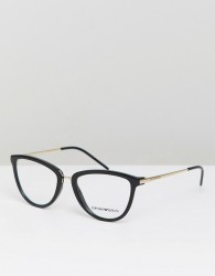 Emporio Armani optical frames with demo lenses - Black