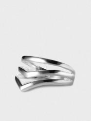 ENAMEL Copenhagen Ring, V-shape Ringe Sølv