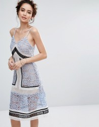 Endless Rose Contrast Lace Dress - Multi