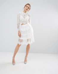 Endless Rose Lace Midi Skirt - Cream