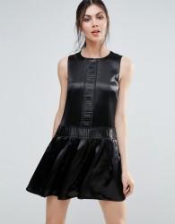 Endless Rose Metallic Shift Dress - Black
