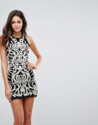 Endless Rose Sequin Brocade Mini Dress - Black