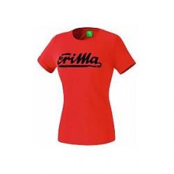 Erima Retro T-Shirt, rød/blå (damer)