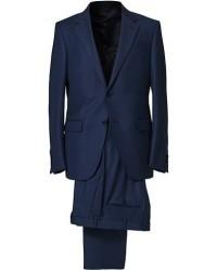 Ermenegildo Zegna Milano Easy Wool Suit Navy Blue men 48 Blå