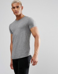 Esprit Longline T-Shirt with Raw Edges - Grey