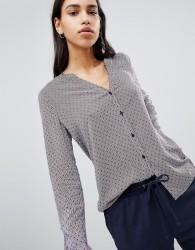 Esprit Polka Dot And Stripe Shirt - Multi