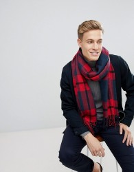 Esprit Scarf With Red Check - Red