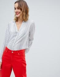 Esprit Star Printed Blouse - White