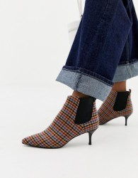 Essentiel Antwerp ankle boots in mini check - Multi