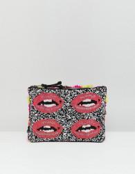 Essentiel Antwerp Beaded Lips Clutch - Multi