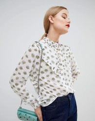 Essentiel Antwerp Blouse with Embellished Trim - White