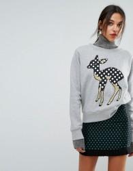Essentiel Antwerp Deer Sweater - Grey