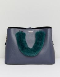 Essentiel Antwerp faux fur handle bag - Black