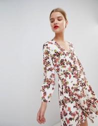 Essentiel Antwerp Flippy Dress in Floral Print - Multi