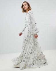 Essentiel Antwerp floral maxi dress - White