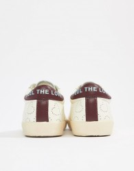 Essentiel Antwerp heart slogan trainers - White