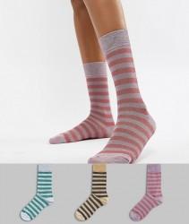 Essentiel Antwerp metallic stripe sock 3 pack - Multi