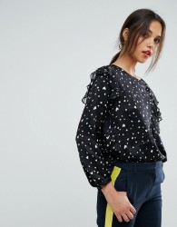 Essentiel Antwerp Oki Long Sleeved Top - Black
