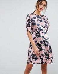 Essentiel Antwerp Olapola Short Sleeved Dress - Brown