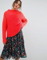 Essentiel Antwerp Ombay High Collar Sweater - Pink