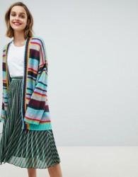 Essentiel Antwerp oversized rainbow stripe cardigan - Multi