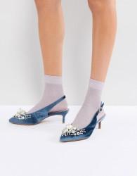 Essentiel Antwerp Pastis Heeled Shoes With Pearls - Blue