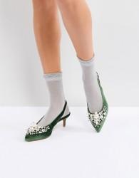 Essentiel Antwerp Pastis Heeled Shoes With Pearls - Green