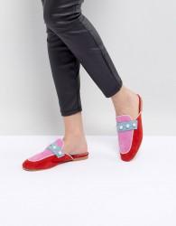 Essentiel Antwerp Pearl Embellished Slip On Loafers - Pink