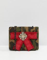 Essentiel Antwerp Petrella Camo Shoulder Bag - Green
