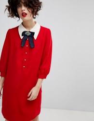 Essentiel Antwerp Pillow Shirt Dress - Red