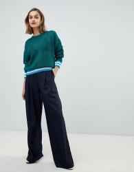 Essentiel Antwerp pinstripe wide leg trousers - Navy
