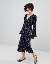 Essentiel Antwerp Piscine Long Sleeved Dress - Blue
