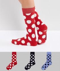 Essentiel Antwerp Pouvry 3 Pack Dotted Socks - Black