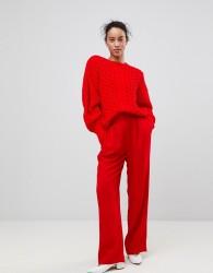 Essentiel Antwerp Prices Wide Leg Trouser - Red
