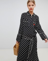Essentiel Antwerp Pyjama Maxi Dress - Black