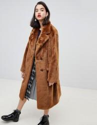 Essentiel Antwerp Remire faux fur coat - Brown