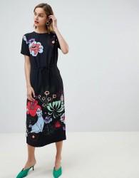 Essentiel Antwerp retro bloom midaxi dress - Navy
