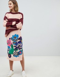 Essentiel Antwerp retro bloom skirt - Pink