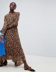 Essentiel Antwerp Rus leopard midi dress - Brown