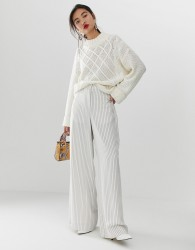 Essentiel Antwerp Sadsongs wide leg pants - White