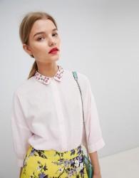 Essentiel Antwerp Shirt with Embellished Collar - Pink