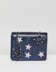 Essentiel Antwerp Star Embroidered Bag - Black