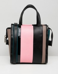 Essentiel Antwerp striped mini shopper - Multi