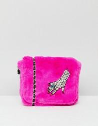Esssentiel Antwerp Faux Fur Chain Bag - Pink