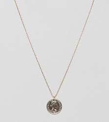 Estella Bartlett gold plated coin necklace - Gold