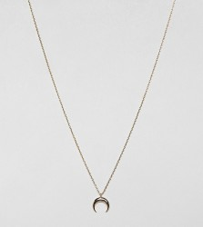 Estella Bartlett gold plated curved horn necklace - Gold