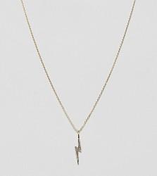 Estella Bartlett gold plated lightning bolt necklace - Gold