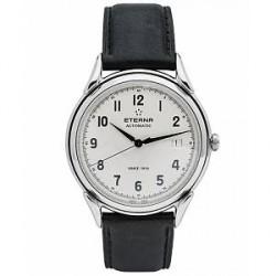 Eterna 1948 Gents Black Leather 40mm